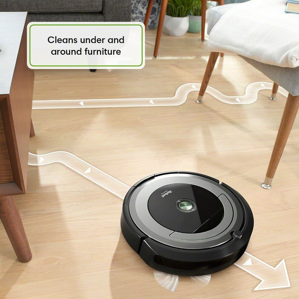 irobot roomba in action