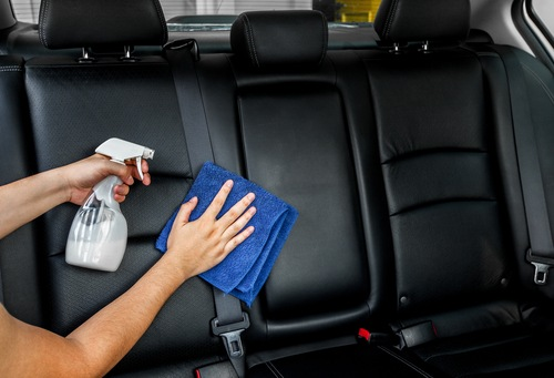 cleaning car seat