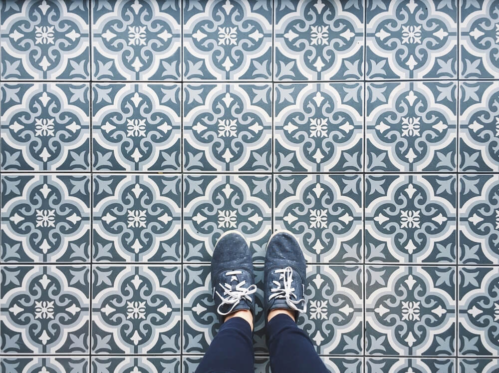 tile floor at home
