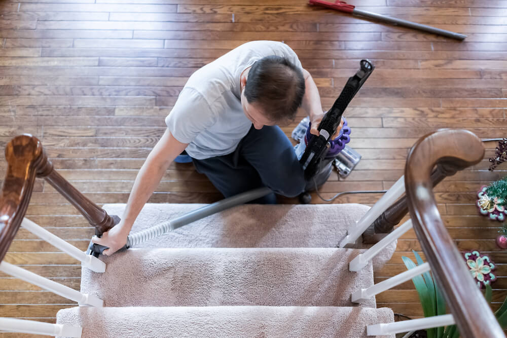 best way to clean carpet on stairs