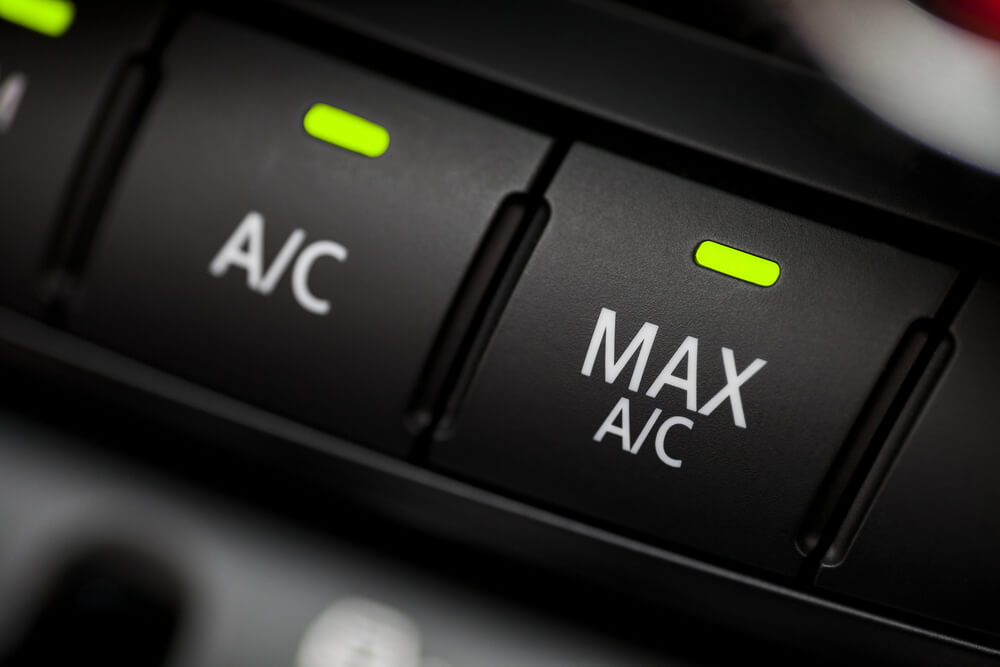 air conditioning button AC and AC MAX